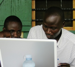 Computerised records at Nyahuka, Bundibugyo District, Uganda