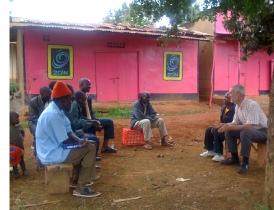 Teaching at Nkalwe VIllage, Kagganda sub-project, Masaka, Uganda