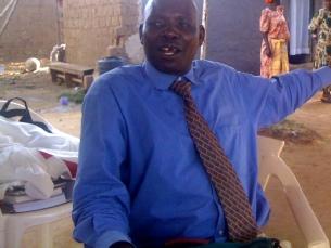 Pastor John Michael Otim who is keen on bringing dairy goats to Soroti