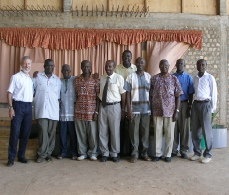 David Dowdy with the Leadership Team of Deliverance Church Uganda