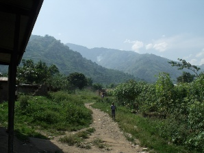 Agriculture is carried out on steep slopes